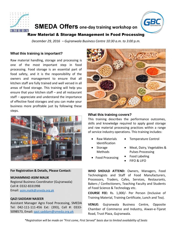 Raw Material & Storage Management in Food Processing